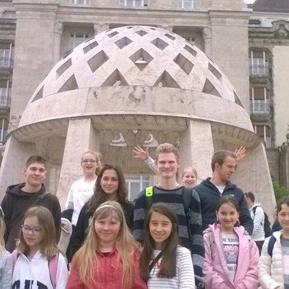 el grupo de Lyceum Hungaricum en Hungría